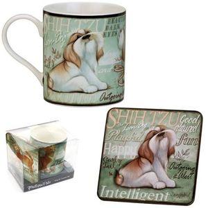 My Pedigree Pals Shih Tzu Mug & Coaster Set