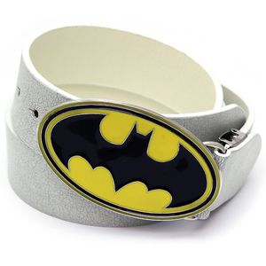 Batman Superhero PU Leather Belt, White
