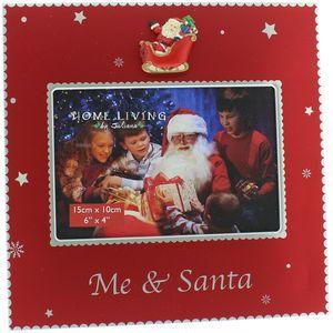 "Juliana Home Living Christmas Photo Frame 6"" x 4"" - Me & Santa"