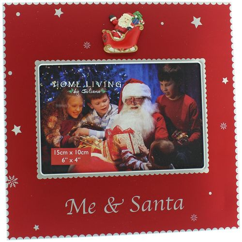 "Juliana Home Living Photo Frame 6"" x 4"" - Me & Santa"