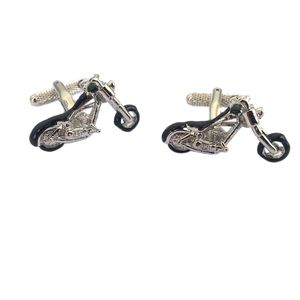 Hardtail Chopper with Twin Engine Cufflinks by Onyx Art