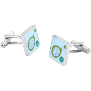 Tennis Racket & Ball Cufflinks by Onyx Art of London
