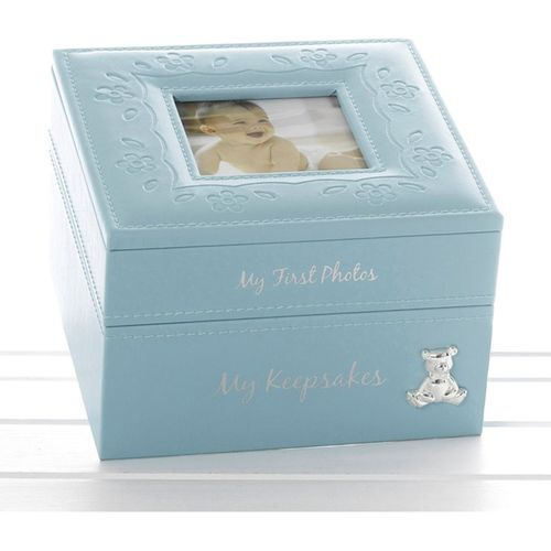 Baby Boy Keepsake & Photo Box