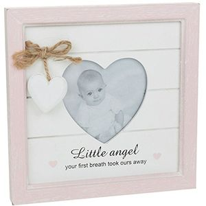 Provence Message Heart Photo Frame baby girl