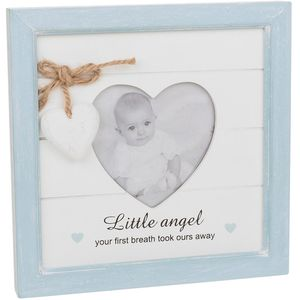 Provence Message Heart Photo Frame - Baby Boy