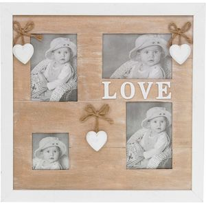 Provence Heart Shabby Chic Collage Photo Frame - Love