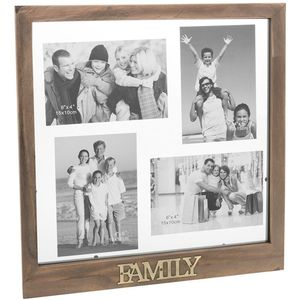 Rustic Collage Multi Family Photo Frame