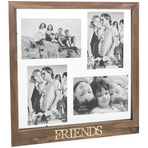Rustic Collage Multi Photo Frame - Friends