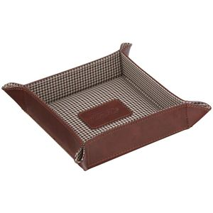 Jacob Jones Coin Tray Tan with Brown Checker Lining