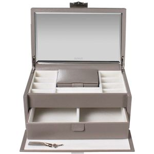 Dulwich designs Large Mink Leather Jewellery Box
