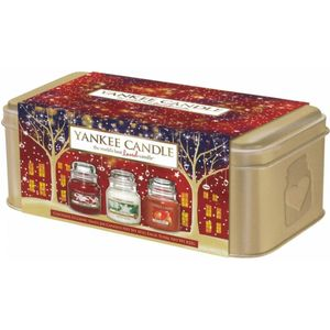 Yankee Candle Christmas 3 small Jars in Tin Set