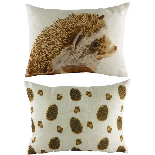 Evans Lichfield Rural Collection Cushion Cover: Walter Hedgehog 43cm x 33cm
