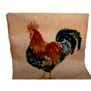 Evans Lichfield Rural Collection Cushion Cover: Marvin Cockerel 17x17""