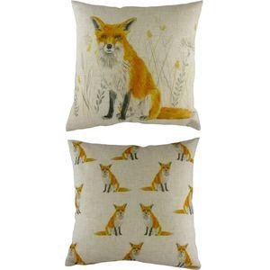 """Fox Repeat Cushion Cover 17x17"""""""