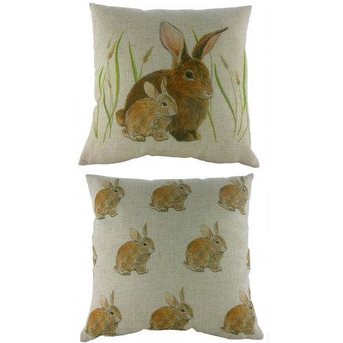 Evans Lichfield Rural Collection Cushion: Bunnies 43cm x 43cm