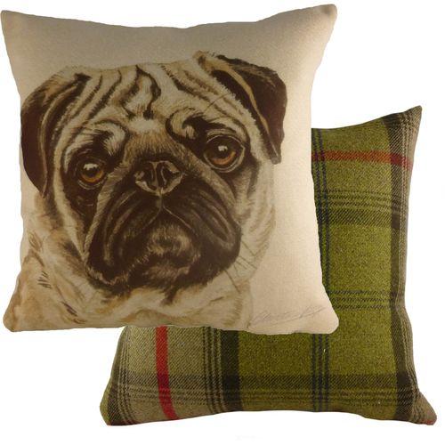 Evans Lichfield Waggydogz Cushion: Pug 43cm x 43cm