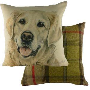 "Evans Lichfield Waggydogz Cushion Cover: Golden Retriever 17x17"""