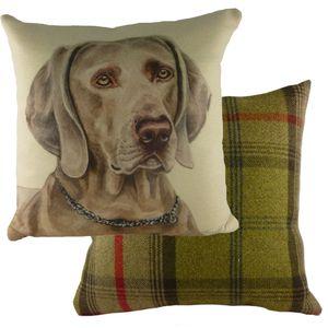 """Waggydogz Weimaraner Cushion Cover 17x17"""""""