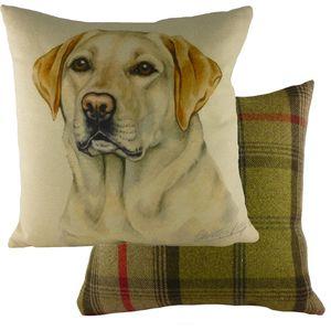 "Evans Lichfield Waggydogz Cushion Cover: Yellow Labrador 17x17"""