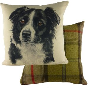 Evans Lichfield Waggydogz Cushion: Border Collie 43cm x 43cm