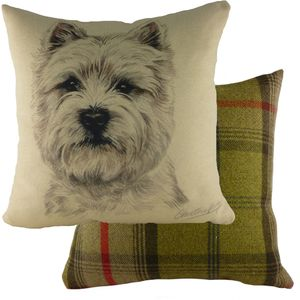 Waggydogz Westie Cushion Cover 17x17""