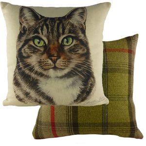 """Evans Lichfield Waggydogz Cushion Cover: Tabby Cat 17x17"""""""
