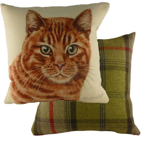 Evans Lichfield Waggydogz Cushion: Ginger Cat 43cm x 43cm