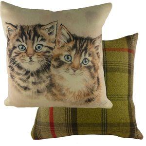 """Waggydogz Kittens Cushion 17x17"""""""