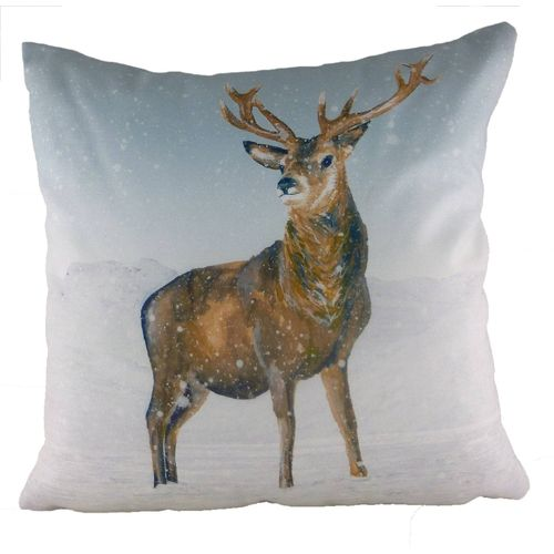 Evans Lichfield Christmas Collection Cushion: Stag Snow Scene 43cm