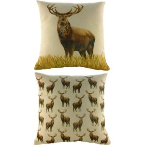 """Evans Lichfield Majestic Beasts Collection Cushion Cover: Stag 17x17"""""""