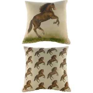 Evans Lichfield Horse Majestic Beasts Cushion 17x17""