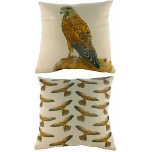 Kestrel Majestic Beasts Cushion Cover 17x17""