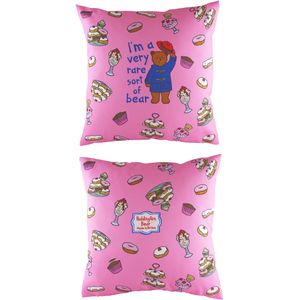 Evans Lichfield Paddington Bear Collection Cushion Cover: Pink 17x17""