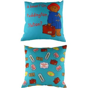 Paddington Bear Blue Cushion Cover 17x17""