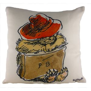 Vintage Paddington Sleeping Cushion Cover 17""