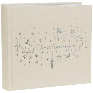 "Hearts Stars Christening Album (Large) 6"" x 4"""