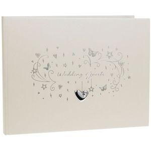 Wedding Guest Book - Hearts Stars & Butterflies