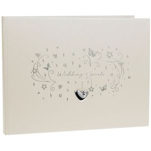 Wedding Guest Book with Hearts Stars & Butterflies