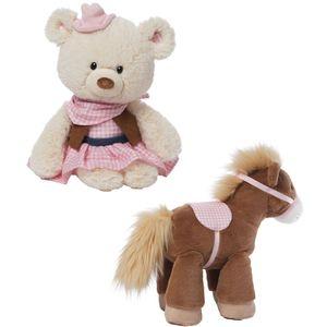 GUND Rootin Tootin Horse & Teddy Bear Soft Toy set