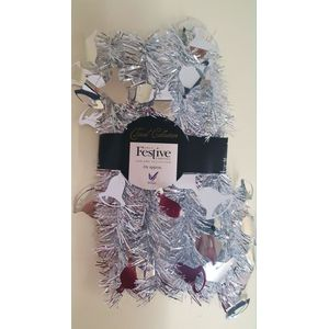 Christmas Tree Tinsel - Silver Bell 2m
