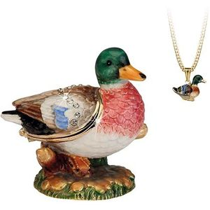 Hidden Treasures Secrets Mallard Duck Trinket Box