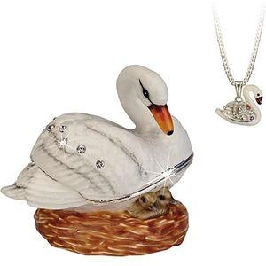 Hidden Treasures Secrets Swan Trinket Box