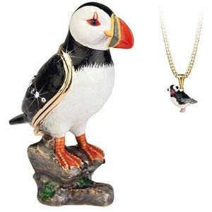 Hidden Treasures Secrets Puffin Trinket Box