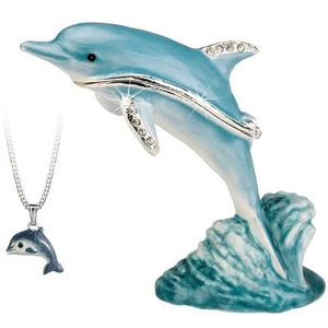 Hidden Treasures Secrets Dolphin Trinket Box
