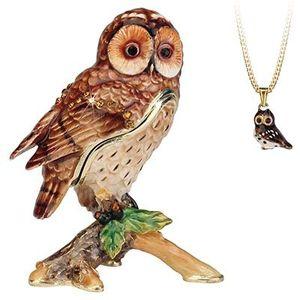 Hidden Treasures Secrets Tawny Owl Trinket Box