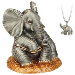 Hidden Treasures Secrets Baby Elephant Trinket Box