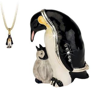Hidden Treasures Secrets Penguin Trinket Box