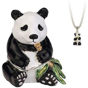 Hidden Treasures Secrets Panda Trinket Box