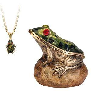 Hidden Treasures Secrets Frog Trinket Box
