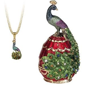 Hidden Treasures Secrets Peacock Trinket Box
